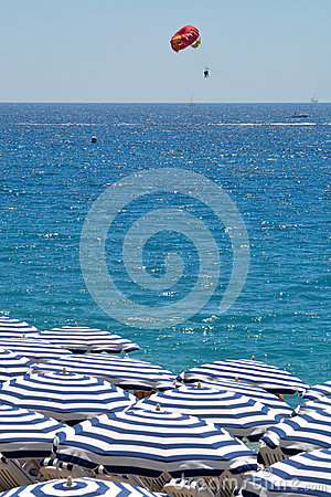 Free Umbrellas On The Beach Stock Photography - 76490282