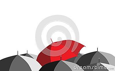 Umbrellas_red umbrella