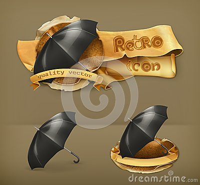 Free Umbrellas, Vector Icons Royalty Free Stock Images - 57418809