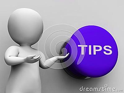 Umkippungs-Knopf zeigt Anleitungs-Vorschläge
