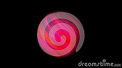 Umkreis mit leuchtend glühenden Linien auf schwarzem, 3D-Rendering-Hintergrund, Computer-Generierung stock video footage