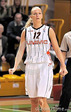 UMMC vs TEO. Women basketball Euroleague 2009-2010 Editorial Photography