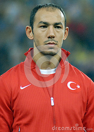 Umut Bulut in Romania-Turkey World Cup Qualifier Game Editorial Photo