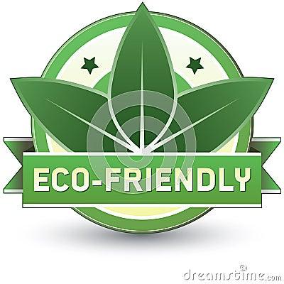 Umweltfreundliches Produkt, Nahrung oder Service-Kennsatz
