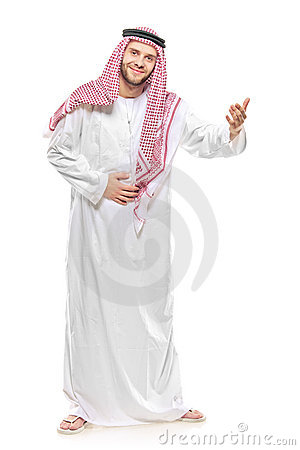 Un accoglienza araba della persona