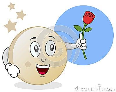 Lune avec le caractère de Rose