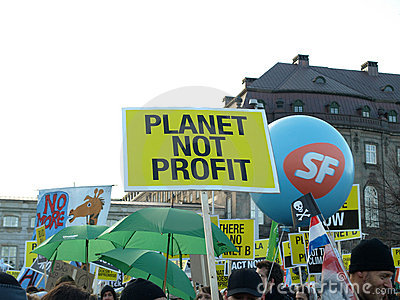 UN Climate Change Demonstration Royalty Free Stock Photo - Image: 12155315