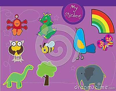 Un conjunto de las ilustraciones para los cabritos