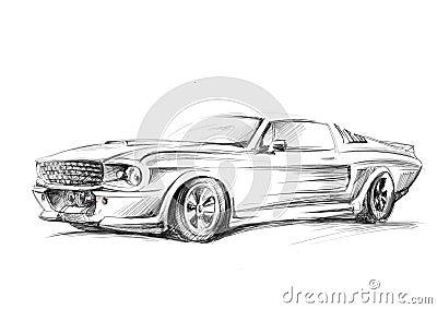 Un croquis d 39 une voiture illustration stock image 49820606 - Croquis voiture ...