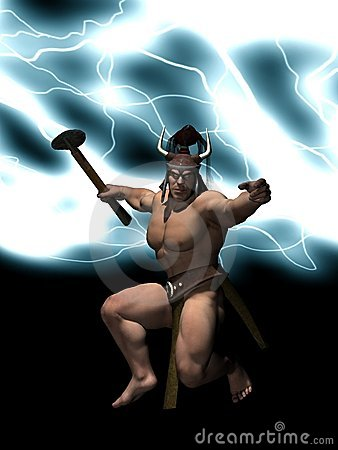Un dieu de Thor de tonnerre