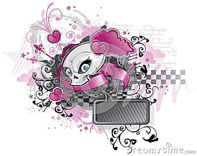 Diseño punky de la muchacha