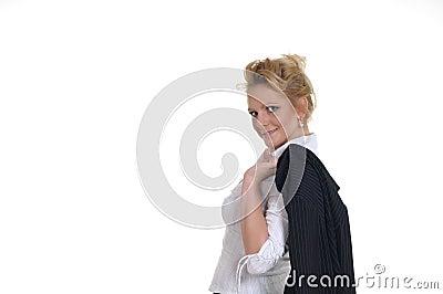 Une gentille femme dans son temps de récréation