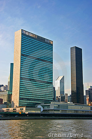 UN Headquarters, Manhattan, New York, vertical