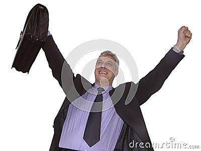 Un hombre de negocios feliz