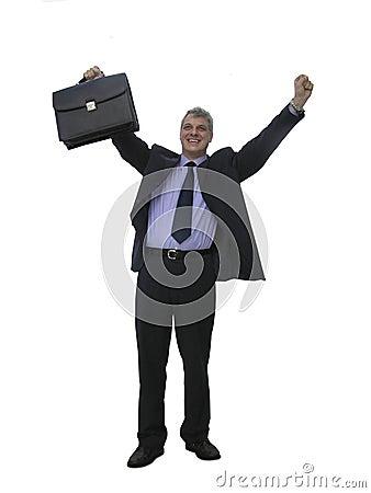 Un homme d affaires heureux