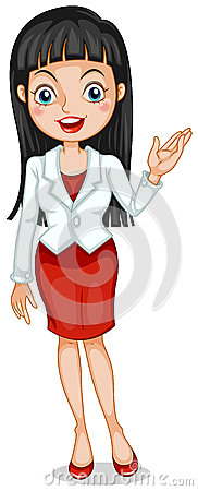 Un icona graziosa di affari con una giacca sportiva bianca