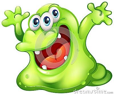 Un monstruo verde del limo