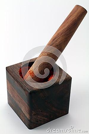 un mortier et un pilon en bois image stock image 11898931. Black Bedroom Furniture Sets. Home Design Ideas