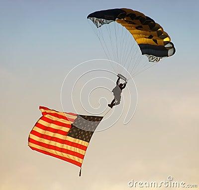 UN Navy paratrooper Editorial Stock Photo