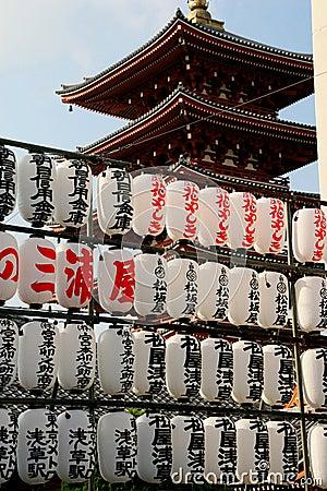 Un pagoda di cinque storie