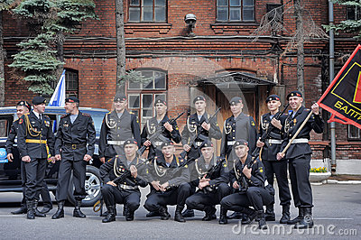 Un peloton des marines Image éditorial