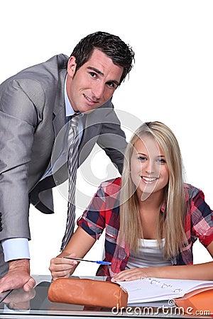 Un professeur et son élève