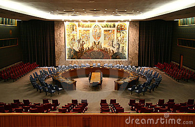 UN Security Council Editorial Stock Photo
