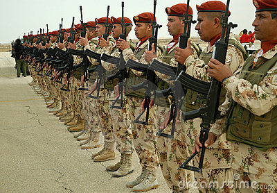 UN Troops Line Up Editorial Stock Photo