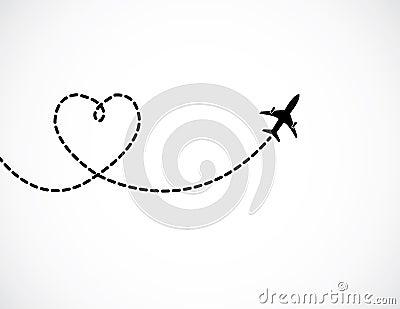 Images Stock Un Vol D Avion Dans Le Ciel Blanc Laissant Un Amour Form%C3%A9 La Tra%C3%AEn%C3%A9e De Fum%C3%A9e Image31629624