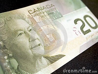 Una banconota dei venti dollari (canadese)