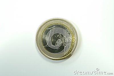 Una euro moneta