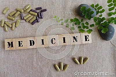 Concetto delle medicine di erbe