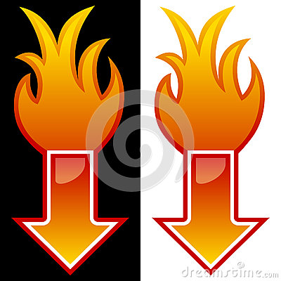 Freccia con le fiamme