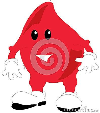Una ilustración de una gota de sangre de Toon