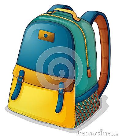 Una mochila colorida