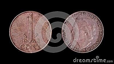 Una moneta olandese di 1948