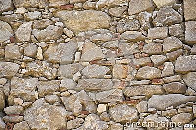 Una pietra e un muro di mattoni immagini stock immagine for Mattoni e pietra americani