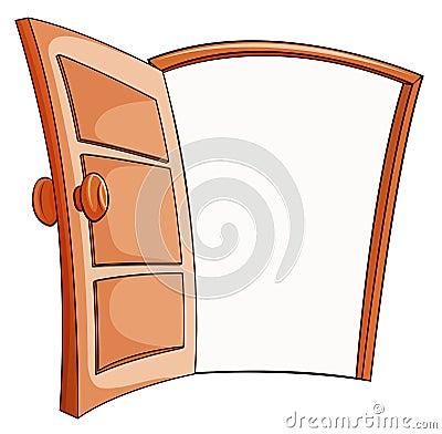 Una Porta Aperta Illustrazione Vettoriale Immagine 49399330