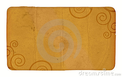 Una tarjeta de la vendimia con espirales