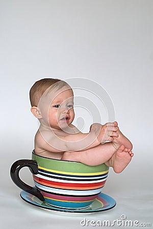 Una taza de bebé