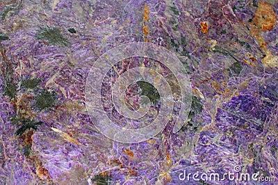 Una textura del mineral natural del charoite