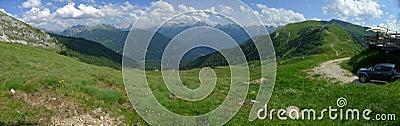 Una vista panorámica de las montan@as Italia de Dolomiti