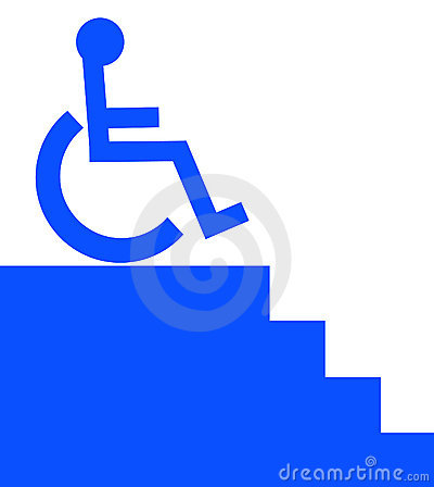 Unaccessible to wheelchair