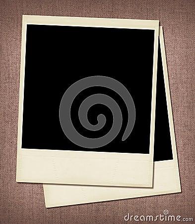 Unbelegte polaroidfelder