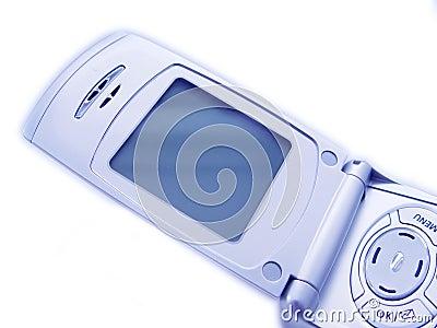 Unbelegter Bildschirm des Mobiltelefons