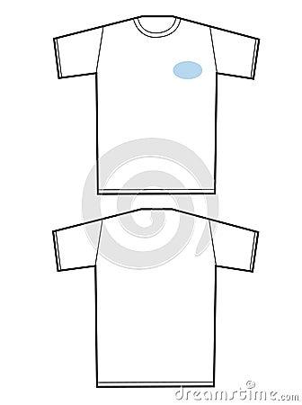 Unbelegtes T-Shirt