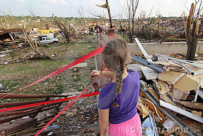 An Uncertain Future in Tornado Damaged Joplin, Mo Editorial Stock Image