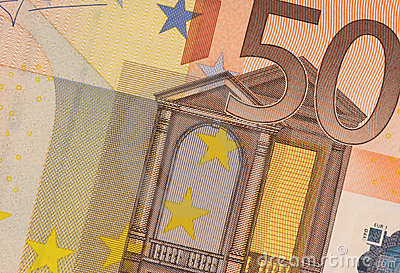 Uncirculated 50 Euro Banknote Close up