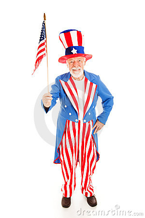 Uncle Sam with American Flag