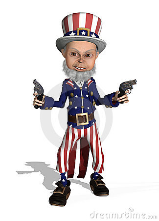Uncle Sam as a Gunslinger
